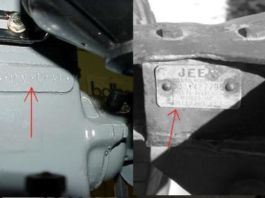 g503 wwii 1942 willys mb jeep finding your body number 2 are there other serial numbers