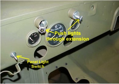 wiring or re wiring steps for you early to mid wwii jeep 11 next install the panel lights which are pretty easy to connect and install on the dash follow the diagram and wire up the switch
