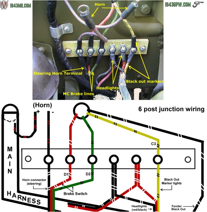 g503 wwii 1943 ford gpw jeep re wire wiring how to steps. Black Bedroom Furniture Sets. Home Design Ideas